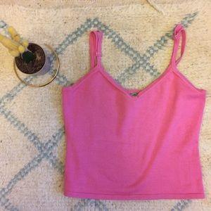 TIBI Knit Pink Croptop